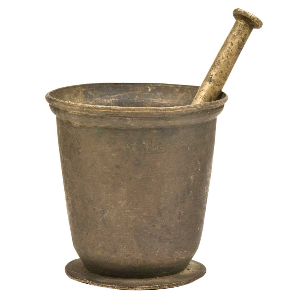 Indian Brass Imam Dasta (Mortar and Pestle)