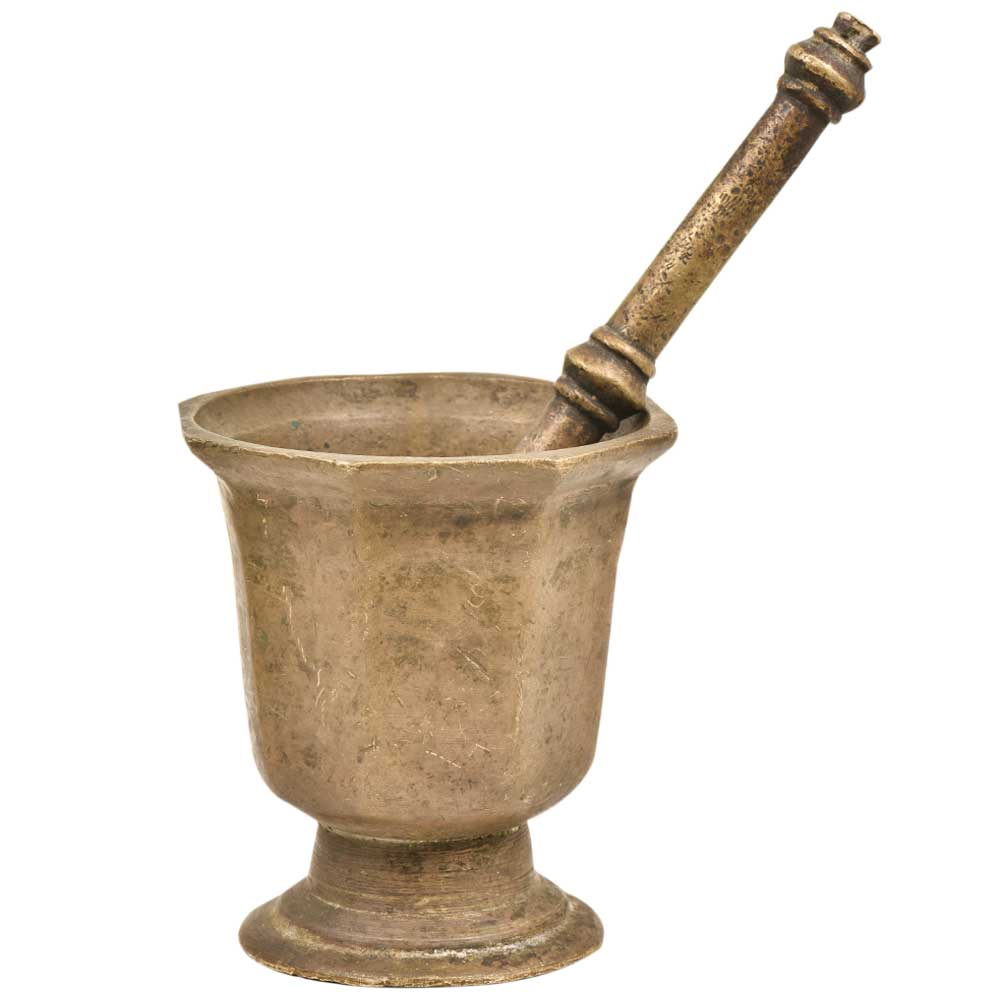Brass Traditional Mortar & Pestle Ural for Medicine And Spices