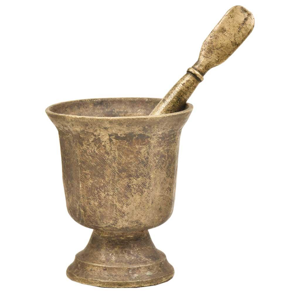 Indian Kitchen Brass Hamam Dasta (Mortar and Pestle)