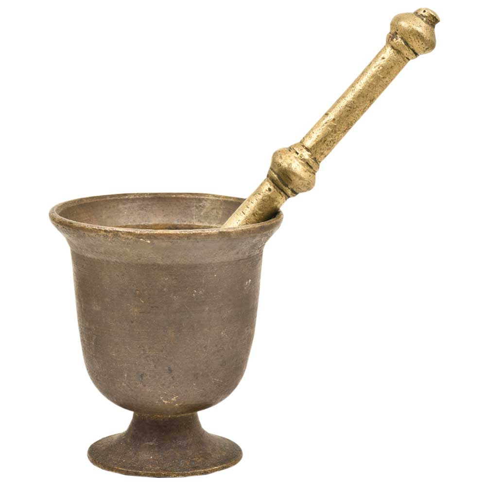 Indian Hand Crafted Urn Shaped Functional GrinderMortar And Pestle