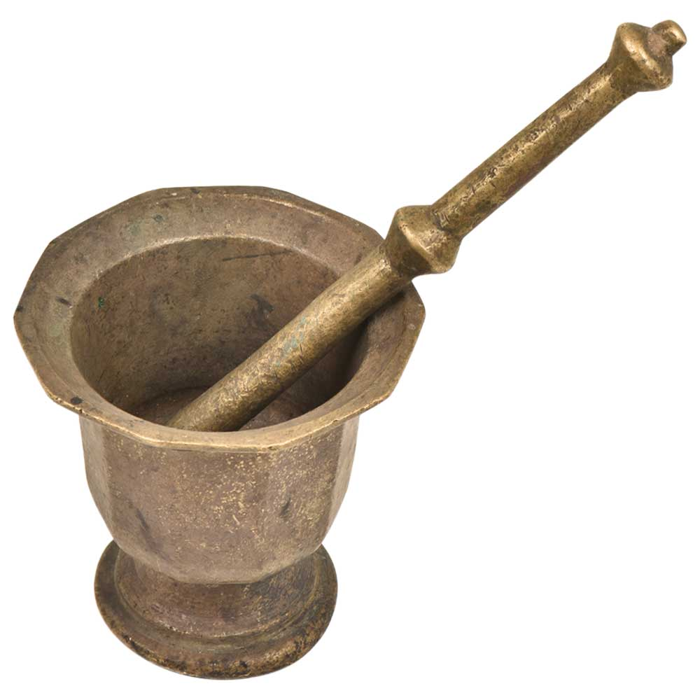 Brass Mortar and Pestle or Hama Dasta Set Spice Mixer For Kitchen