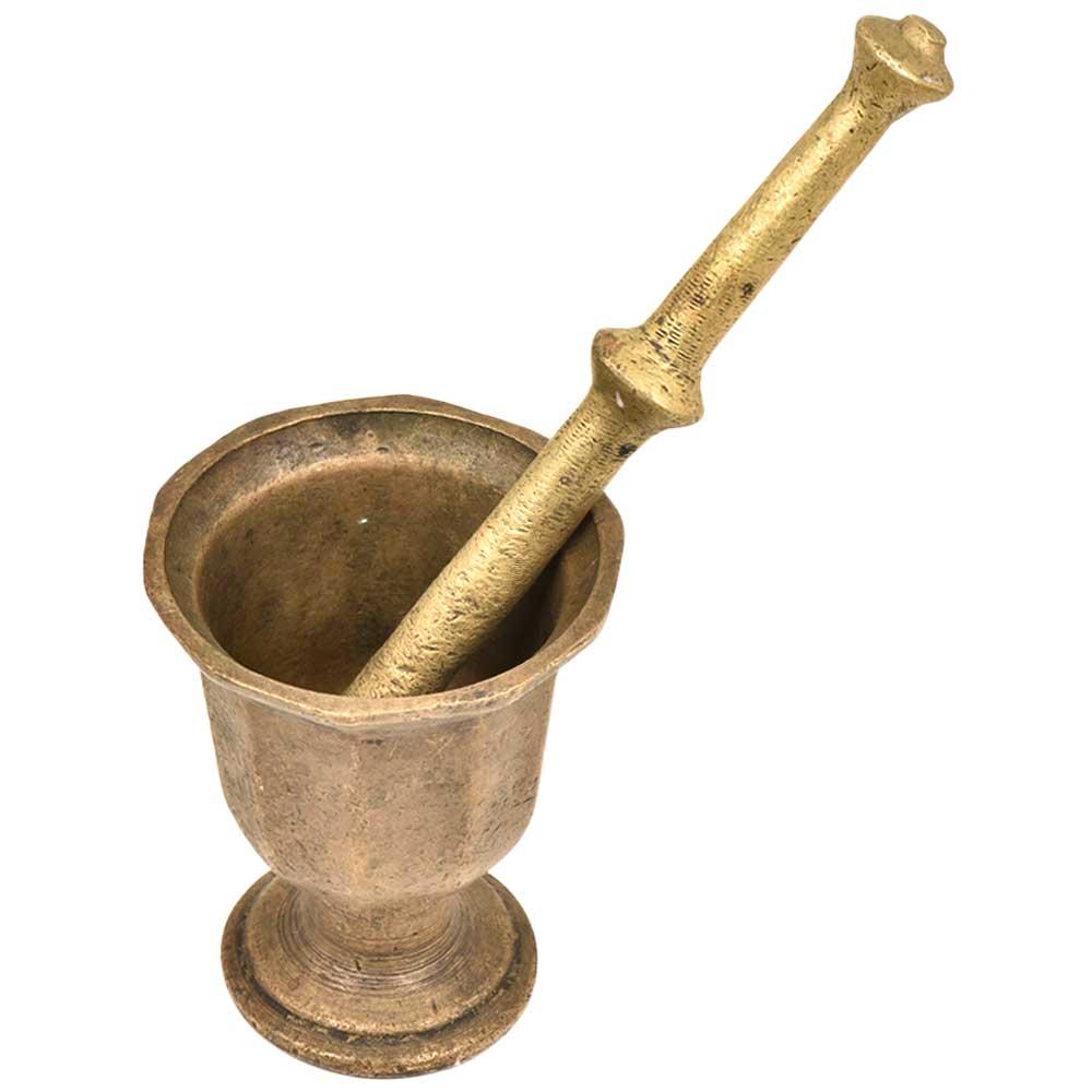 Hand MadeBrass Mortar & Pestle ApothecarySpice Grinder