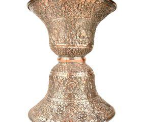 Handmade Copper Repousse Ugal-Daan(Spittoon)