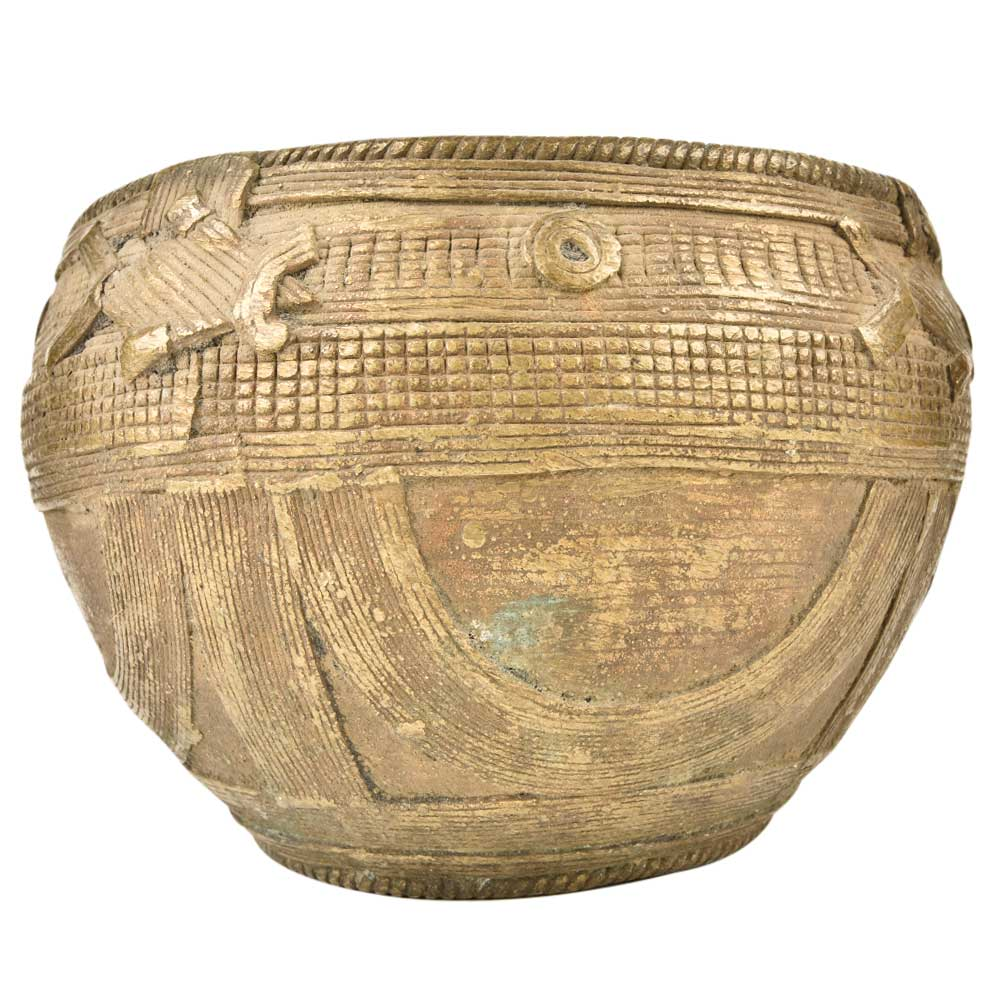 Brass Dhokra Bowl Rice Measure Bowl