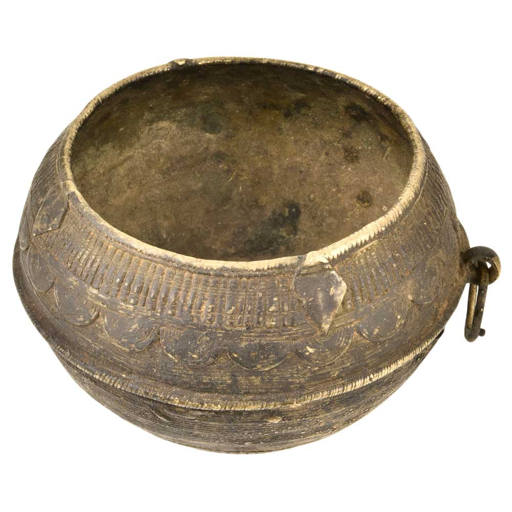 Brass Rice Measurement Bowl with One Side Handle