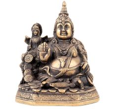 Brass Lord of Wealth Kuber Laxmi Statue
