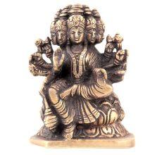 Handmade  Bronze Gayatri Statue with 5 Faces Worship Statue
