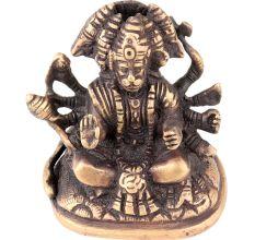 Hand Crafted Panchmukhi Standing Brass Hanuman Statue