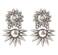 92.5 Sterling Silver Earrings Starry Delight Traditional Stud Earrings