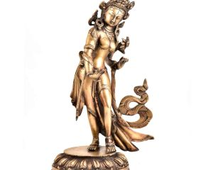 Handmade Brass Tara Buddha Statue Dancing Figurine