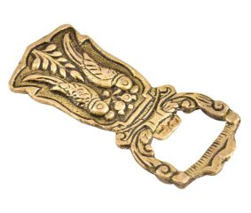 Brass Bottle Opener With Two Parrots Engraved Design