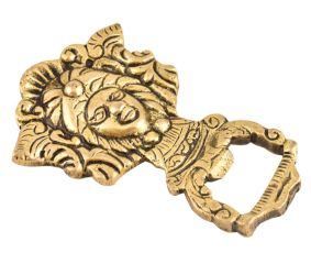 Brass Bottle Opener Tribal Head Shaped Soda Beer Bottle Opener