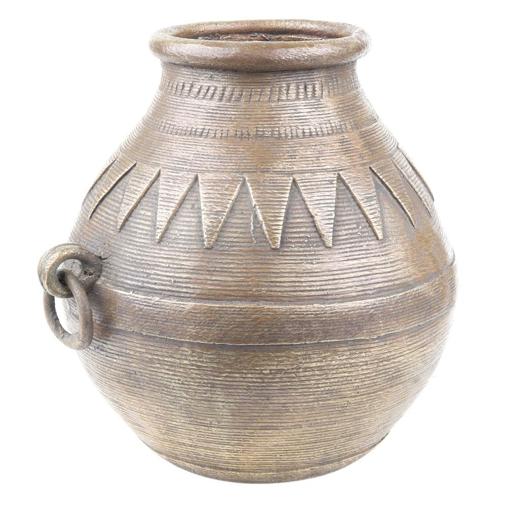 Tribal Rare Brass Grain Or Rice Measure