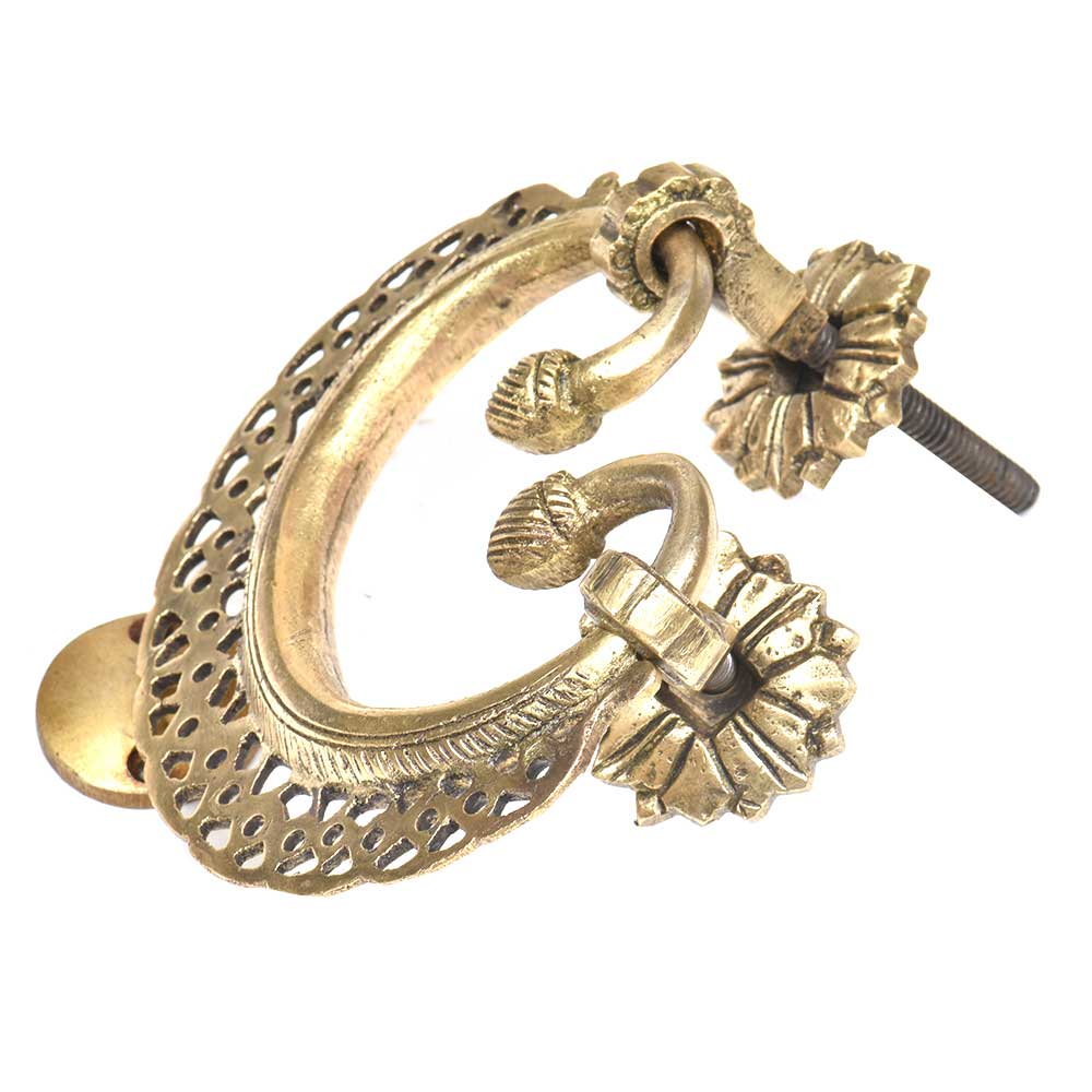 Solid Brass Ornate Jali Design Heavy Main Door Handle