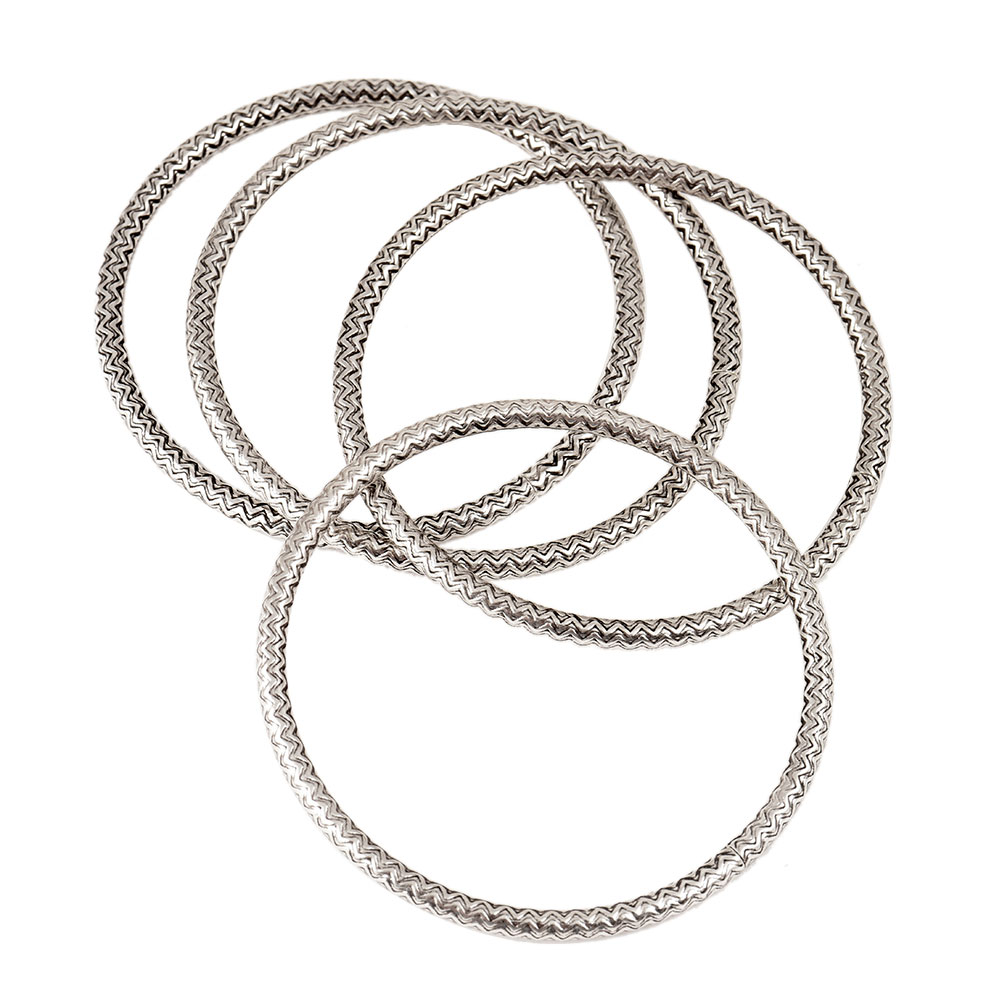 Simple 92.5 Sterling Silver Bangle Bracelet for Women/Girls (Set Of 4)