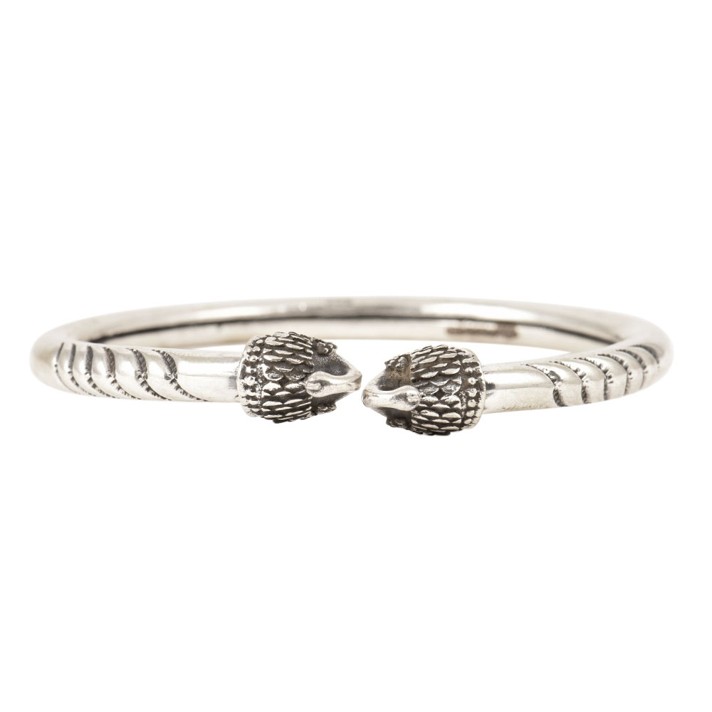 Double Peacock 92.5 Sterling Silver Bangle Opening Fashion Bangles