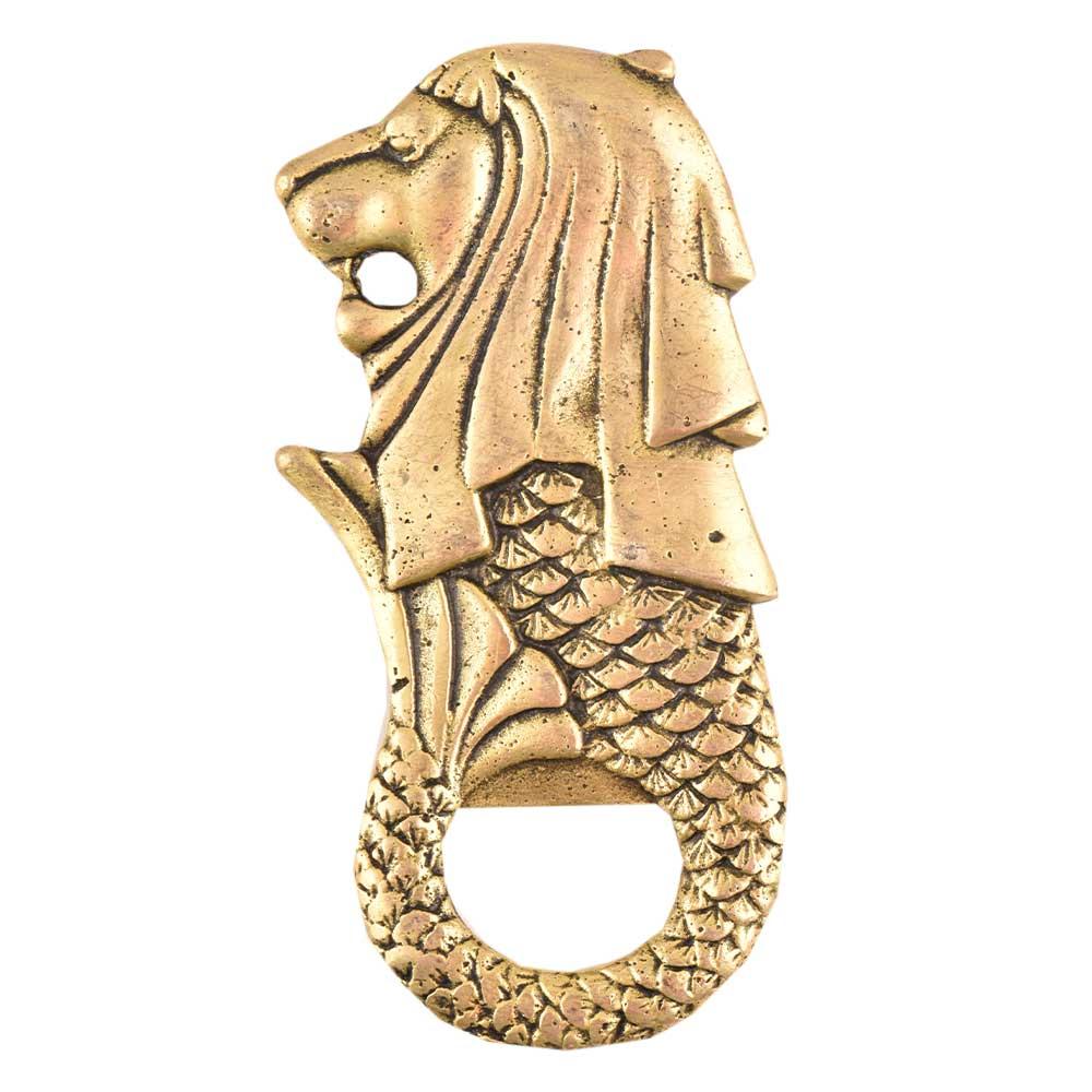 Brass Merlion Lion Bottle Opener