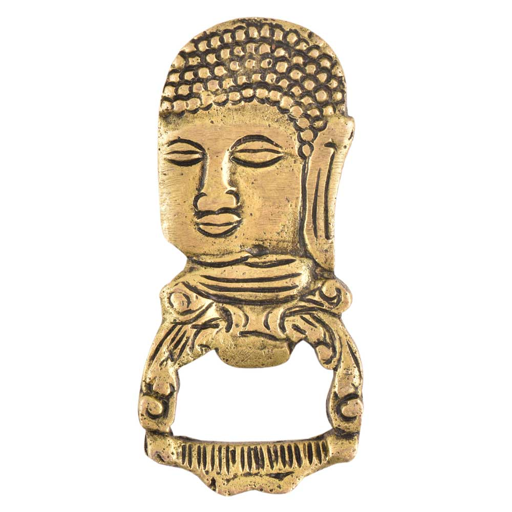 Brass Buddha Head Bottle Opener