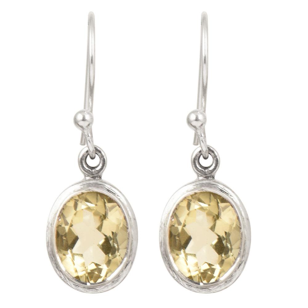 92.5 Sterling Silver Earrings Topaz Engraved Dangle and Drop Earring
