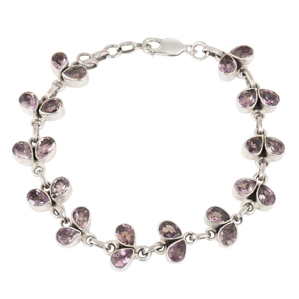 Sterling Silver Bracelet Amethyst Bracelet