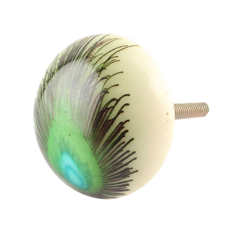 Peacock Feather Knob