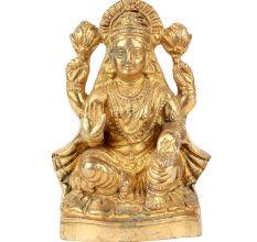 Brass Lama Statue God Of Wealth Statue