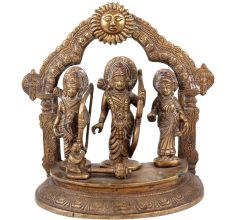 Brass Ram Durbar Statue With Sun God And Prabhavali