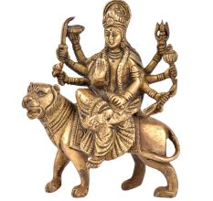 Brass Durga Maa Statue Hand made Worship Idol
