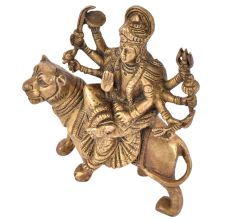 Brass Durga Maa Statue Hand made Worship Idol