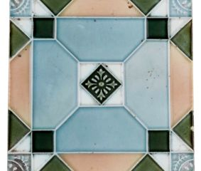 Old Ceramic Tiles Pastel Ceramic Geometric Design Tile