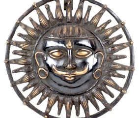 Brass Lord Surya Dev Round�Wall Art
