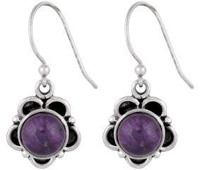 92.5 Sterling Silver Earrings Five Petals Flower Earrings