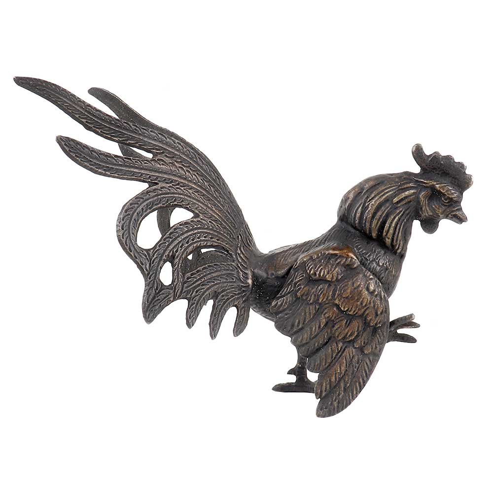 Brass Rooster Fighting Cock Chicken Statue