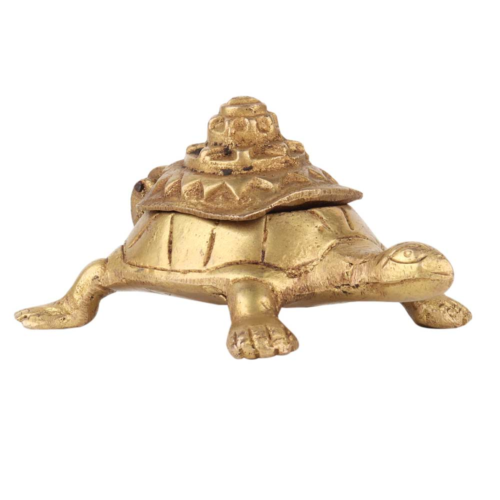 Brass Turtle Yantra Box Statue