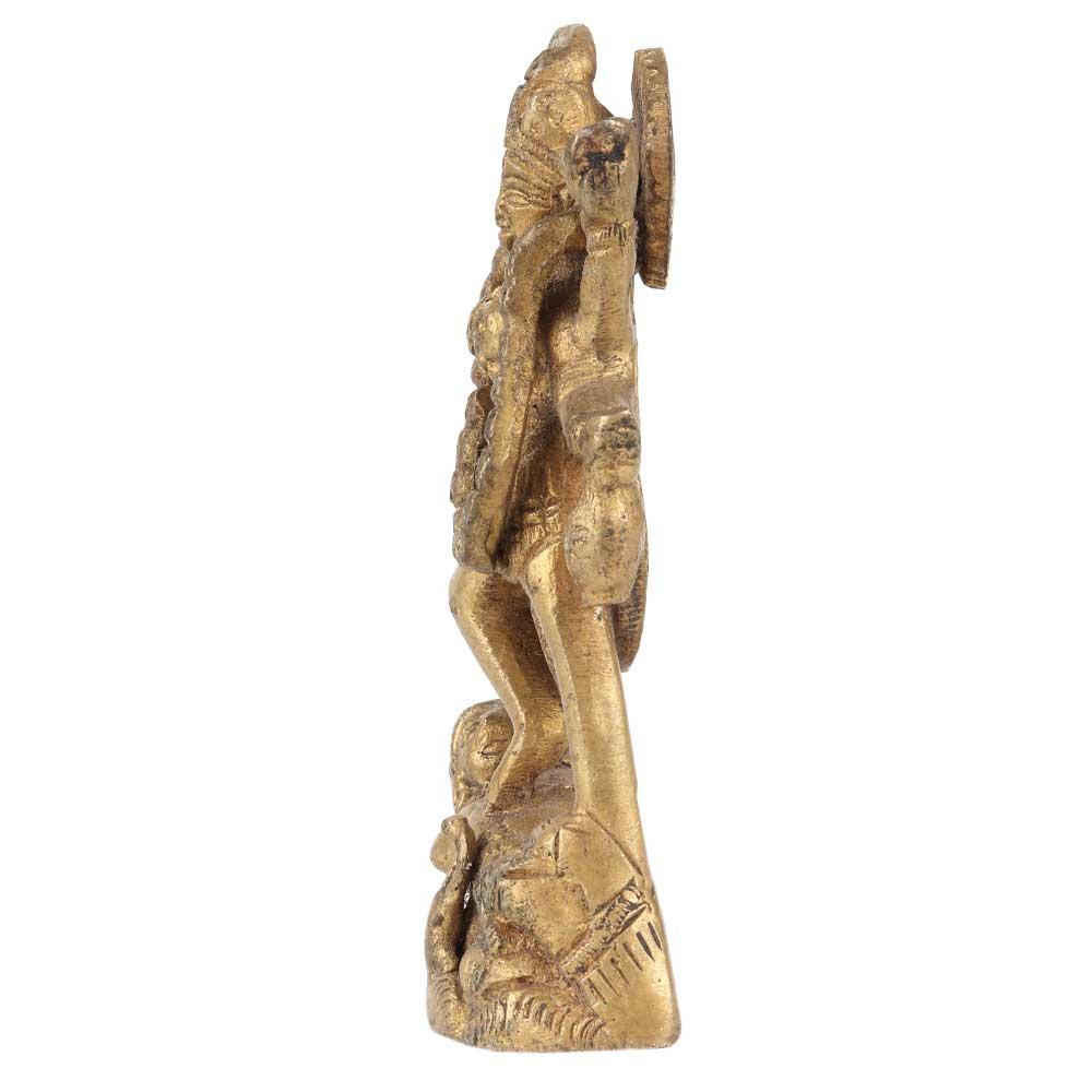 Brass Goddess Kali Statue Hindu Deity