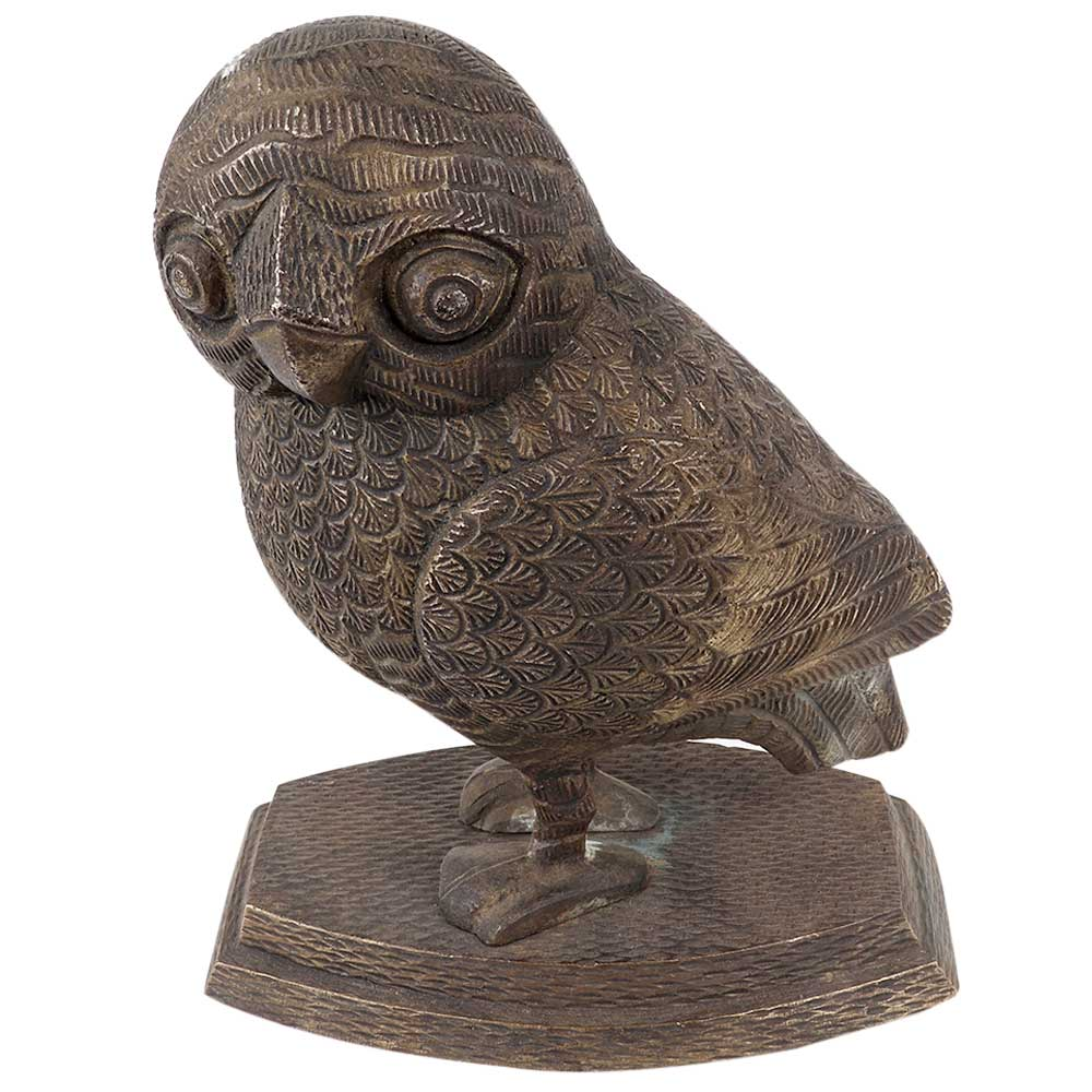 Brass Owl Statue Paper With Lovely Details Paper Weight