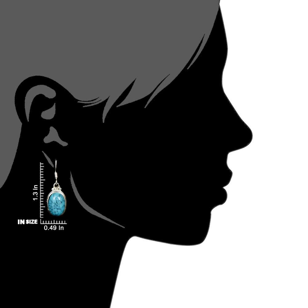 92.5 Sterling Silver Earrings And Turquoise Teardrop Earrings