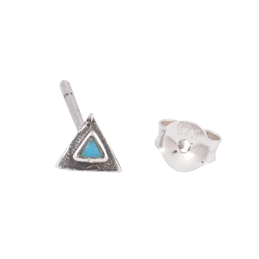 Turquoise 92.5 Sterling Silver Earrings Turquoise Stud EarringsFor Kids