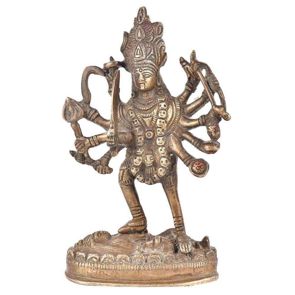 Brass Goddess Kali StatueHindu Deity Goddess Maha Kali Idol