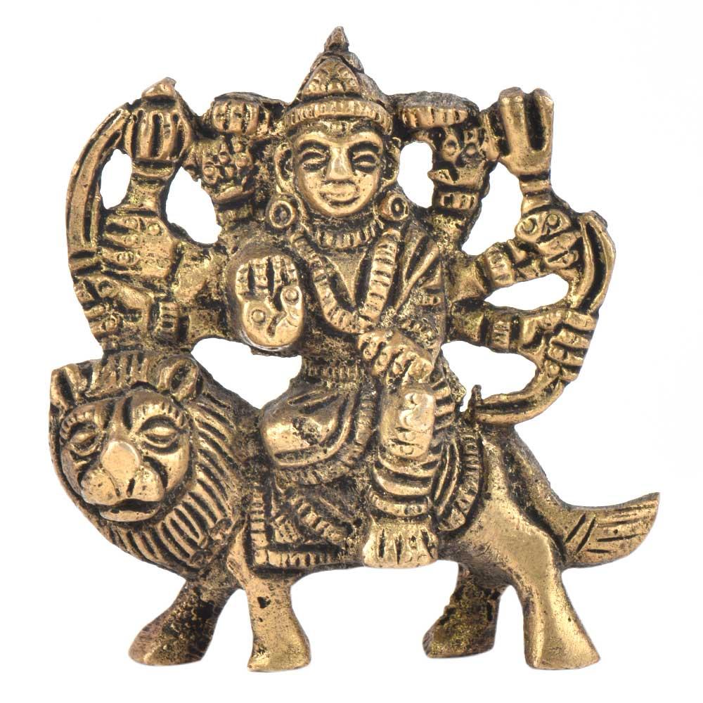 Brass Durga Statue Goddess Ma Nav Durga Statue