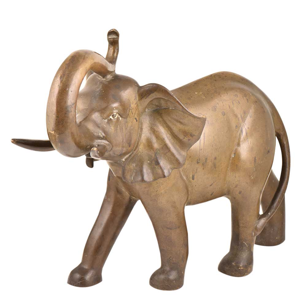 Handmade Brass Elephant Statue For Home Decoration Figurine