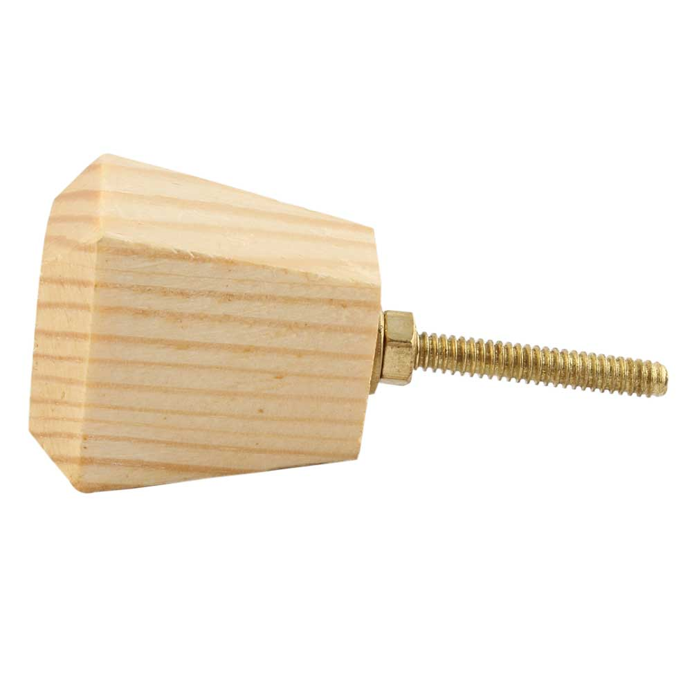 Natural Square Wooden Cabinet knobs