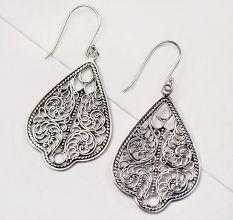 Traditional 92.5 Sterling Silver Drop Earrings