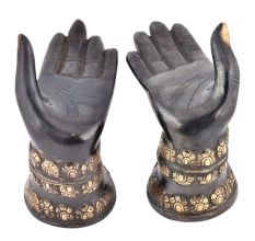 Brass Helping Hands Handmade Sculpture