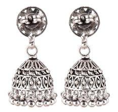 92.5 Sterling Silver Earrings Floral Stud Dangle Jhumkis