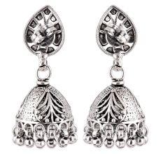 92.5 Sterling Silver Earrings Afghani Style Jhumkis Cocktail earrings