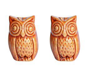 Traditional Owl Ceramic Showpiece (Set Of 2)