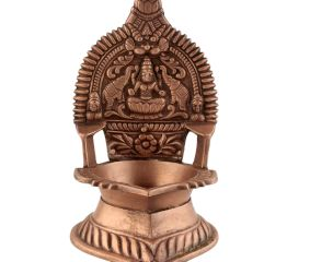 Hindu Laxmi Ashtadhatu Oil Lamp Ethnic Ritual Oil Lamp