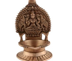 Small Ashtadhatu Oil Lamp Kerala Traditional