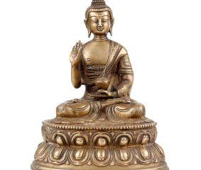Brass Amoghsiddhi Sitting Buddha Statue